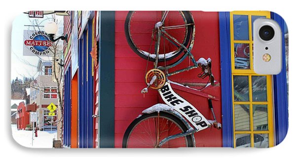 IPhone Case featuring the photograph Bike Shop by Fiona Kennard
