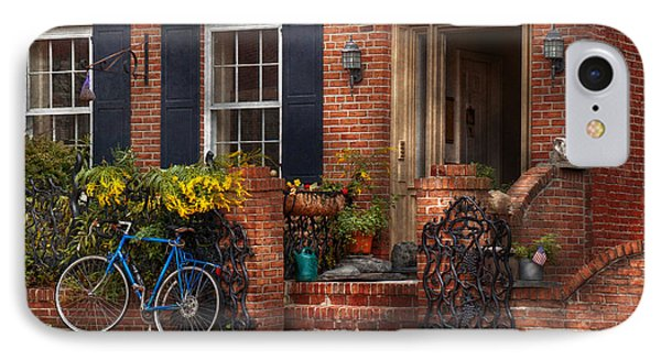 Bike - Waiting For A Ride Phone Case by Mike Savad