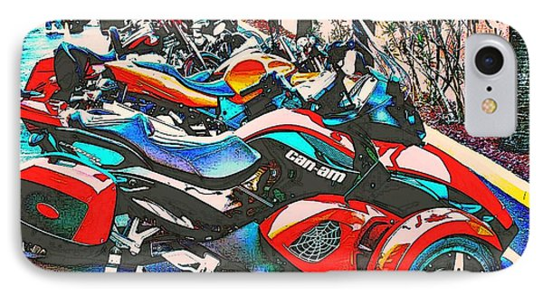 IPhone Case featuring the photograph Bike Week Daytona by Irma BACKELANT GALLERIES