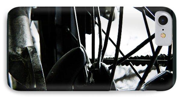IPhone Case featuring the photograph Bike Wheel by Joel Loftus