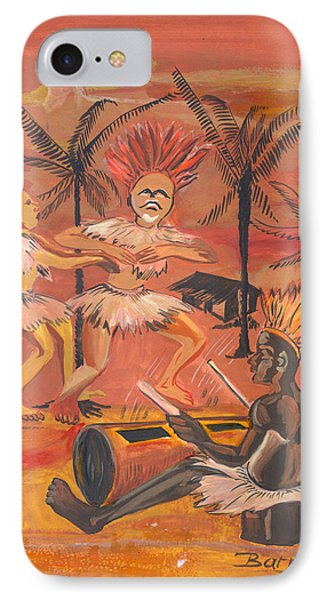 IPhone Case featuring the painting Bikutsi Dance From Cameroon by Emmanuel Baliyanga