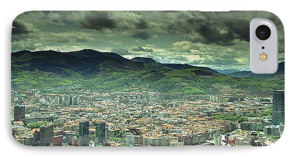 IPhone Case featuring the photograph Bilbao Panoramic  by Mariusz Czajkowski