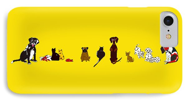 Bill And Friends IPhone Case by Rachel Lowry