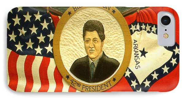 Bill Clinton 42nd American President IPhone Case by Art America Gallery Peter Potter