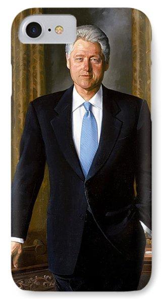 Bill Clinton Portrait Phone Case by Tilen Hrovatic