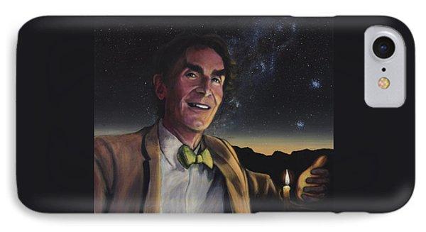 Bill Nye - A Candle In The Dark Phone Case by Simon Kregar