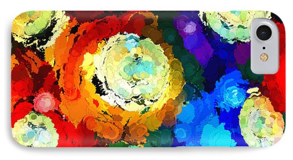 Billiard Balls Abstract Digital Art IPhone Case by Vizual Studio