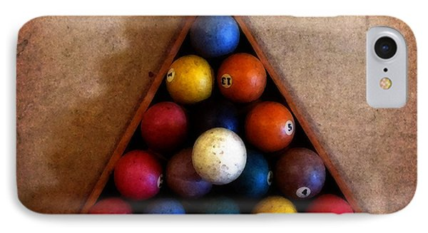 Billiard Balls IPhone Case by Timothy Bulone