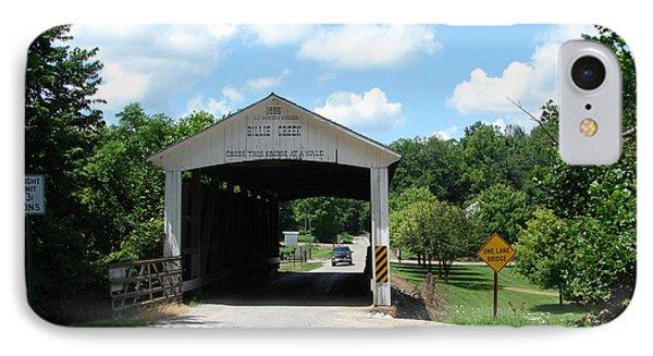 Billie Creek Covered Bridge IPhone Case by BJ Karp
