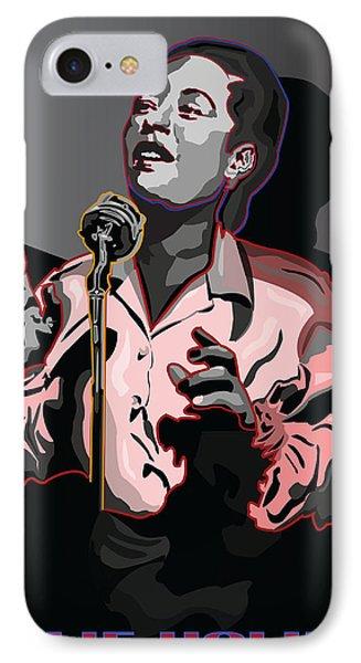 Billie Holiday Jazz Singer Phone Case by Larry Butterworth