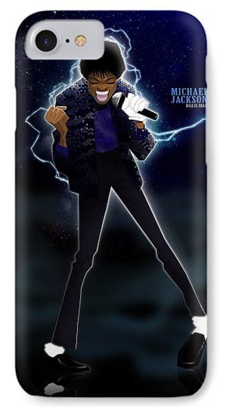 IPhone Case featuring the drawing Billie Jean by Nelson Dedos Garcia
