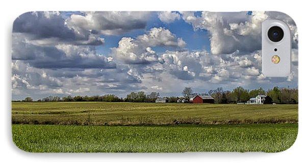 Billow Skies On Green Phone Case by Bill Tiepelman
