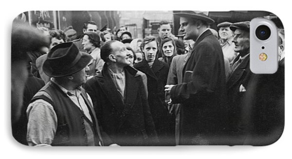 Billy Graham Jr. On A Boston Street 1950 IPhone Case by The Harrington Collection