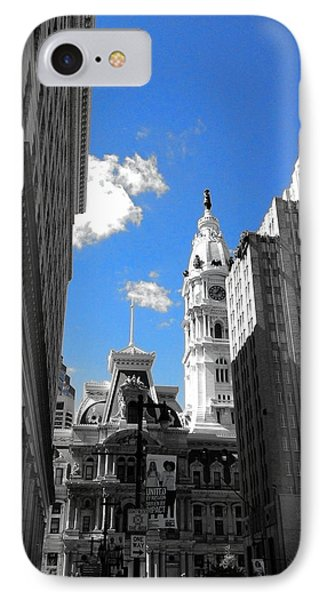Billy Penn Blue IPhone Case by Photographic Arts And Design Studio