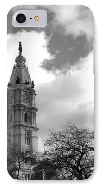 Billy Penn Vertical Bw Phone Case by Photographic Arts And Design Studio
