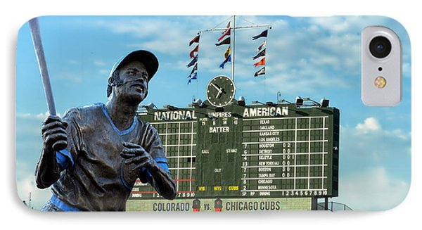 Billy Williams Chicago Cub Statue Phone Case by Thomas Woolworth