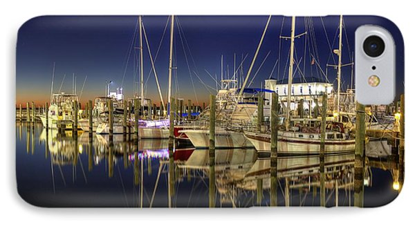 IPhone Case featuring the photograph Biloxi Harbor by Maddalena McDonald