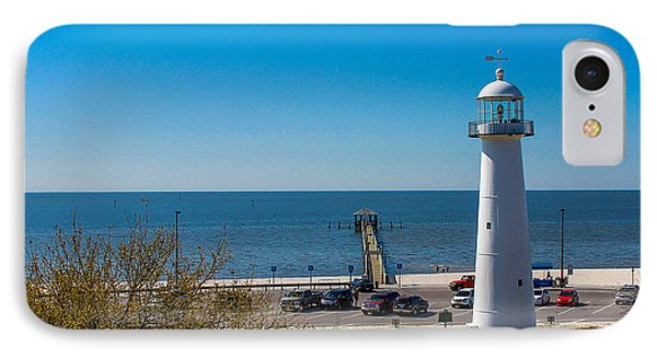 Biloxi Lighthouse And The Gulf Of Mexico IPhone Case by Brian Wright