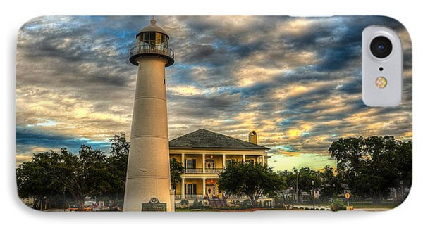 IPhone Case featuring the photograph Biloxi Lighthouse And Welcome Center by Maddalena McDonald