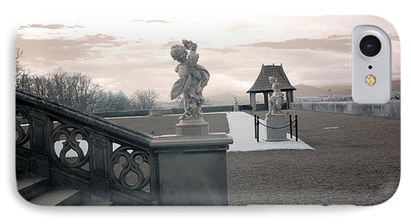 Biltmore House Italian Garden Sculpture Architecture IPhone Case by Kathy Fornal