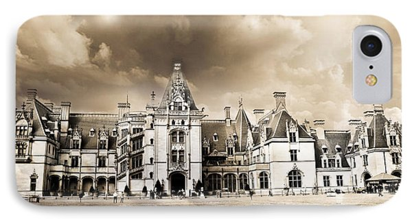 Biltmore Mansion Estate Architecture - Biltmore Estate Mansion Asheville North Carolina IPhone Case by Kathy Fornal