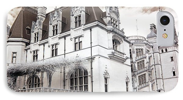 Biltmore Mansion Estate Asheville North Carolina - Surreal Biltmore Estate Mansion  IPhone Case by Kathy Fornal