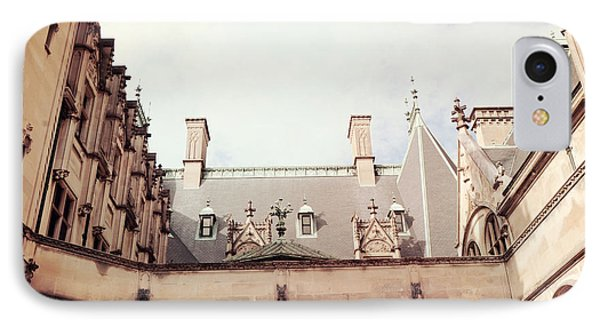 Biltmore Mansion Estate Rooftop Architecture - Italian Ornate Facade And Gargoyles IPhone Case by Kathy Fornal