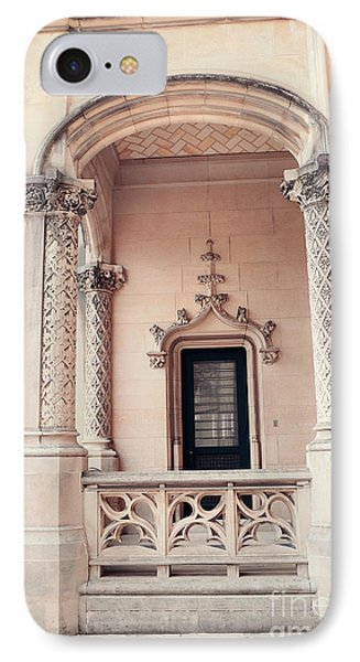 Biltmore Mansion Estate Windows And Doors - Biltmore Estates Italian Architecture Details  IPhone Case by Kathy Fornal