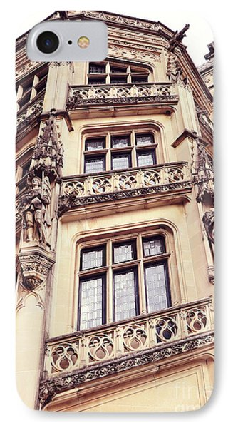 Biltmore Mansion Estate Windows - Biltmore Mansion Gothic Italian Architecture IPhone Case by Kathy Fornal