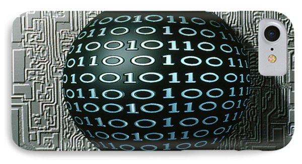 Binary Sphere Phone Case by Gregory MacNicol