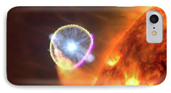 Binary Star System Nova IPhone Case by Nasa's Goddard Space Flight Center/s. Wiessinger