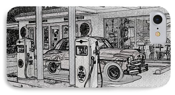 Bings Burger Station Cottonwood Arizona Phone Case by Janice Rae Pariza