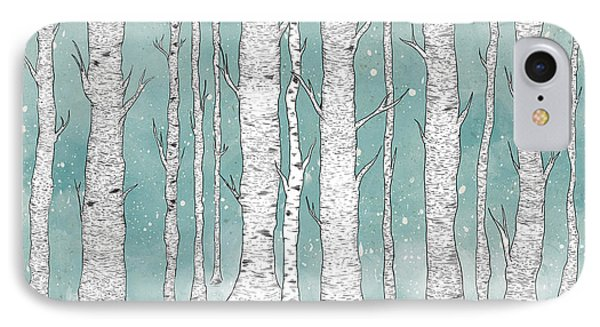 Birch Forest IPhone Case by Randoms Print