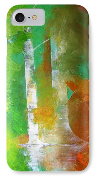 IPhone Case featuring the painting Birch In Fall Colors by Gary Smith
