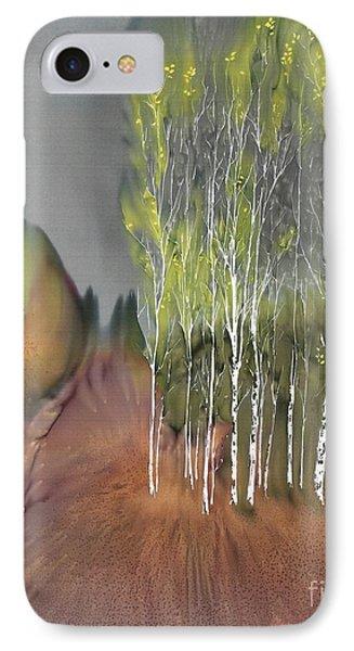 Birch Grove 1 IPhone Case by Carolyn Doe