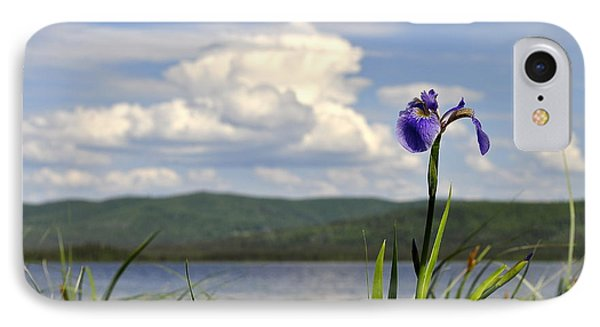 IPhone Case featuring the photograph Birch Lake Iris by Cathy Mahnke