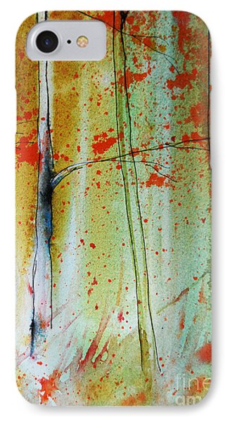 Birch Tree Forest Closeup Phone Case by Jani Freimann