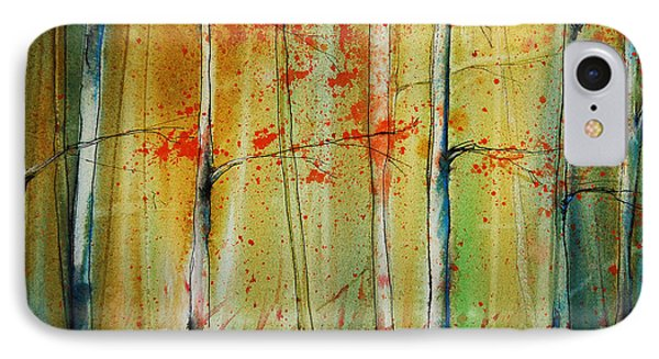 Birch Tree Forest I Phone Case by Jani Freimann