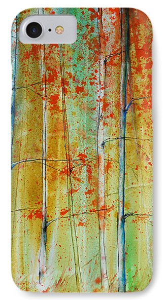Birch Tree Forest IPhone Case by Jani Freimann