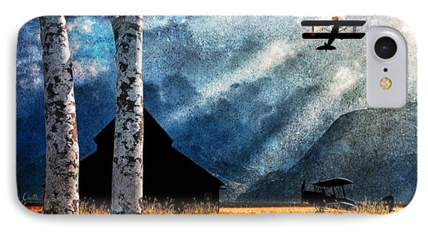 Birch Trees And Biplanes  Phone Case by Bob Orsillo