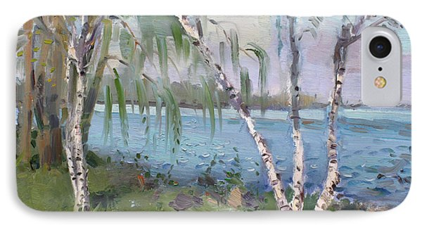 Birch Trees By The River IPhone Case