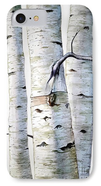 Birch Trees Phone Case by Christopher Shellhammer