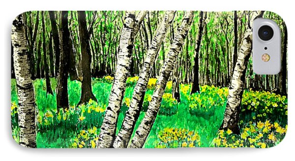 Birch Trees In Spring IPhone Case by Diane Merkle