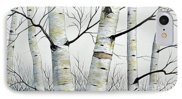 Birch Trees In The Forest By Christopher Shellhammer Phone Case by Christopher Shellhammer