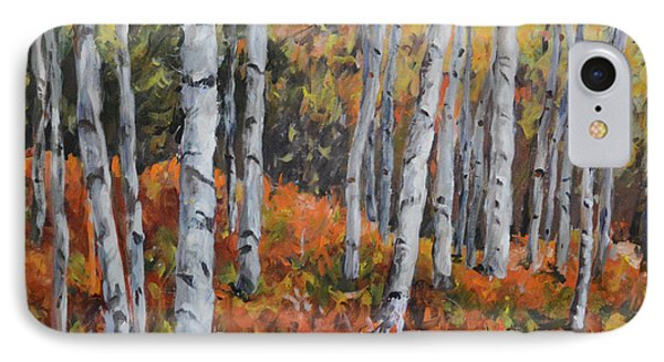 Birch Trees IPhone Case by Alexandra Maria Ethlyn Cheshire