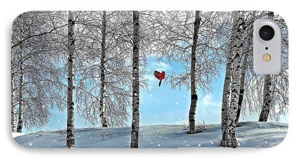 Birch Trees Phone Case by Liane Wright