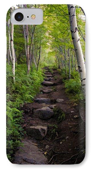 Birch Woods Hike IPhone Case