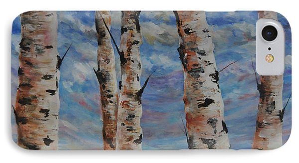Birches By The Bay Phone Case by Heather Kertzer