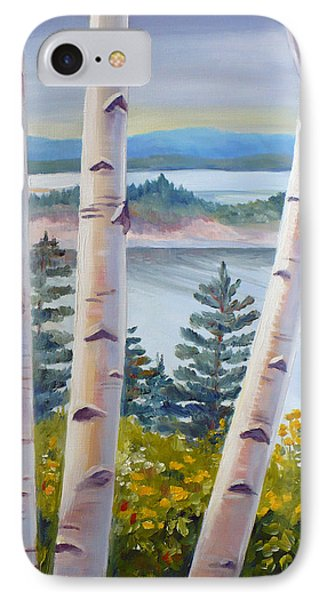 Birches In Nova Scotia IPhone Case by Janet  Zeh