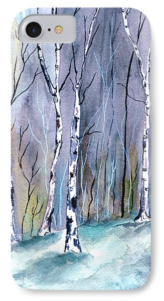 Birches In The Forest IPhone Case